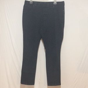 Faded Glory Pull On Stretch Jeans Faded Black